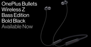 OnePlus Bullets Wireless Z Bass Edition в черном цвете