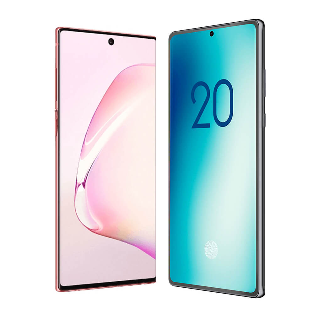 Samsung Galaxy Note10 и Note20 сравнили на рендерах